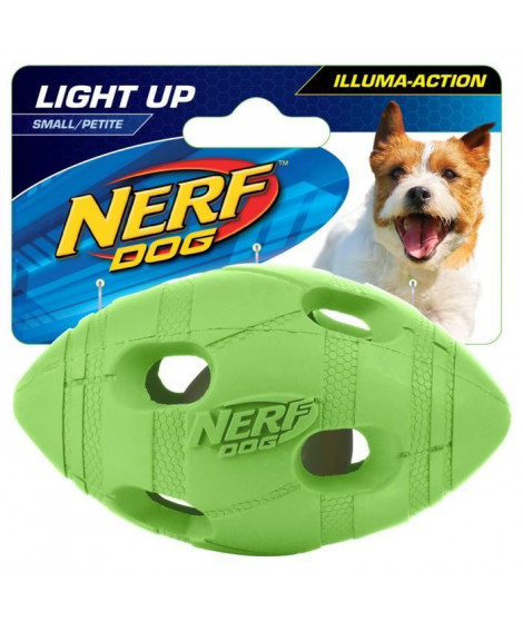 NERFDOG Balle ovale Flash LED S 4 cm - Vert et orange - Pour chien
