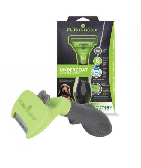 FURMINATOR Outil de Toilettage - Elimine 90% des poils Morts - Nettoyage en 1 clic - Pour chiens de petite taille a poils Longs