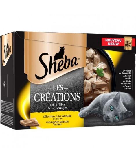 SHEBA Sachets fraîcheur en sauce sélection a la volaille - Pour chat - 12 x 85 g