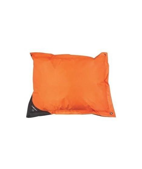MPETS Coussin d'extérieur Natuna 100 cm - Taille M - Orange et gris - Pour chien