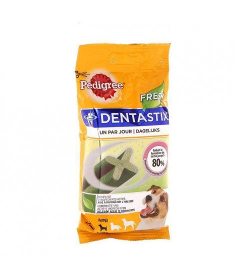 PEDIGREE Dentastix Bâtonnets hygiene bucco-dentaire fresh - Pour petit chien - 110 g (x10)