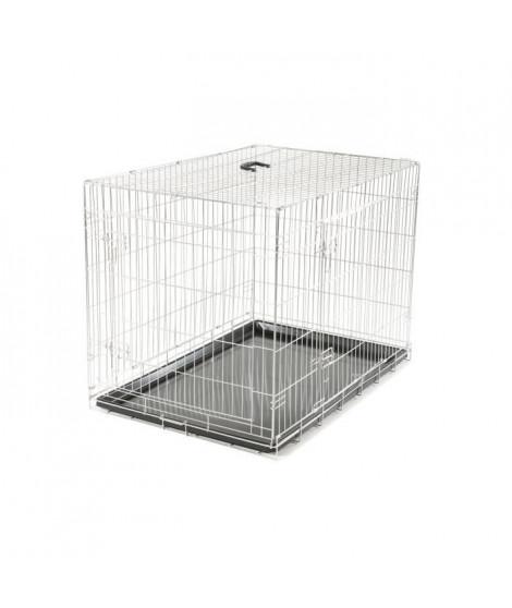 VADIGRAN Cage métallique pliable Classic - 109 x 71 x 79 cm - Argent - Pour chien