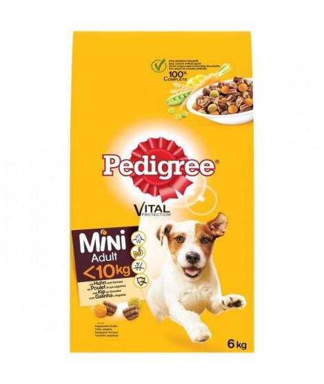 PEDIGREE Mini - Croquettes au poulet et aux légumes - Pour chien adulte de petite taille - 6 kg