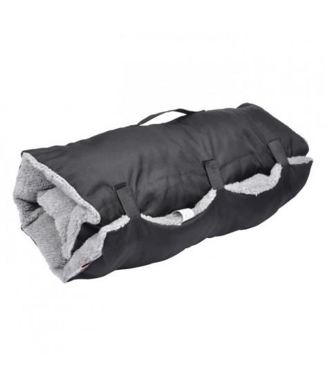 Matelas de voyage - 80x50 cm - Noir et gris - Pour chien