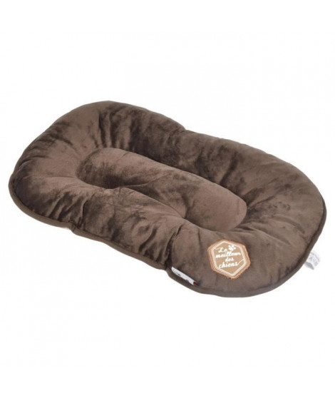 Coussin flocon Patchy - 69 cm - Coloris : chocolat et taupe - Pour chien