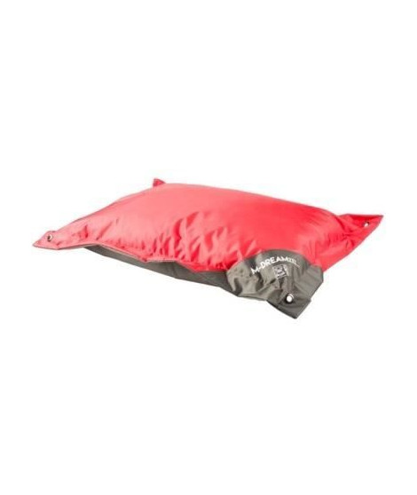 MPETS Coussin d'extérieur Natuna 100 cm - Taille M - Rouge et gris - Pour chien