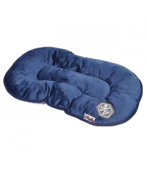 Coussin flocon Patchy - 77 cm - Bleu et gris - Pour chien