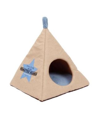 BUBIMEX Niche Pyramide en jute 40 x 40 x 40 cm - Beige - Pour chat
