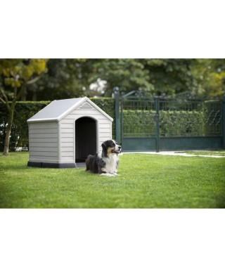 Niche pour chien en plastique beige et marron 99 x 95 x 99cm