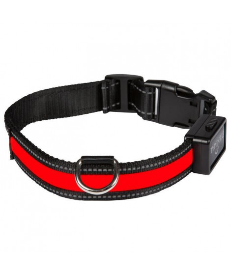 EYENIMAL Collier lumineux Light Collar USB rechargeable S - Rouge - Pour chien