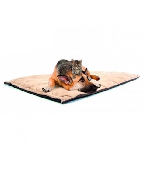 DUVO Coussin thermique de qualité Flectabed - 127x76 cm - Beige - Pour chien