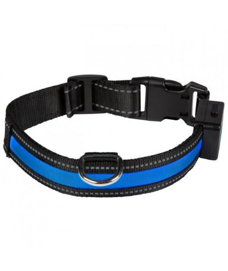 EYENIMAL Collier lumineux Light Collar USB rechargeable L - Bleu - Pour chien