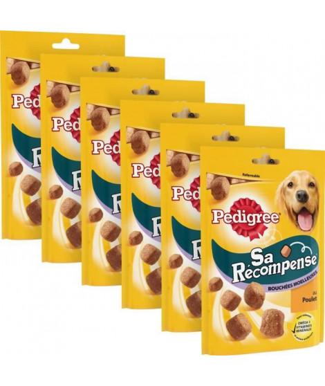 PEDIGREE Sa Récompense Bouchées Moelleuses au poulet - Pour chien - 130 g (x6)