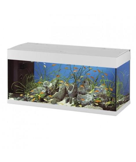 DUBAI 120 Aquarium en verre blanc 121x41x56 cm