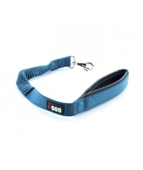 I DOG Laisse Confort - L 60 cm - Bleu et gris - Pour chien