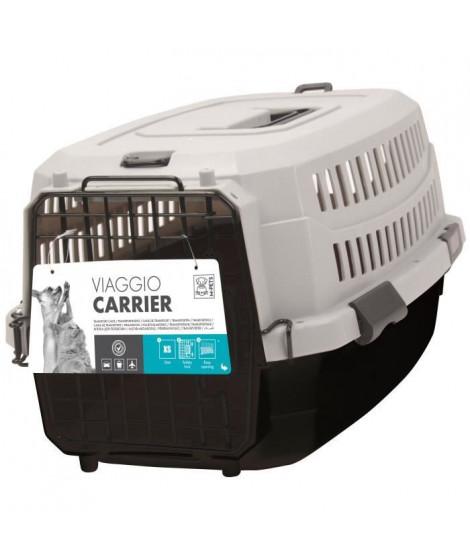 M-PETS Caisse de transport Viaggio Carrier M - 68x47,6x45cm - Noir et gris - Pour chien