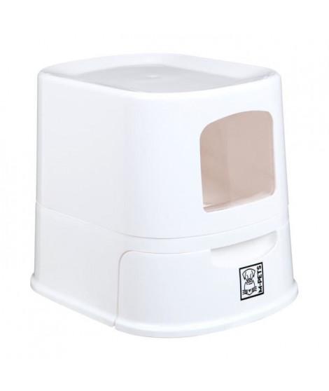 MPETS Distributeur d'eau avec couvercle - Blanc  - Pour chien et chat