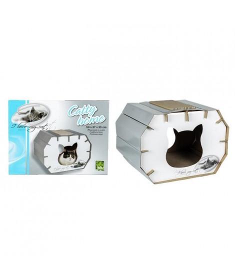 RIGA Catty Home I LOVE MY CAT Couchage chat - 50 x 37 x 35 cm