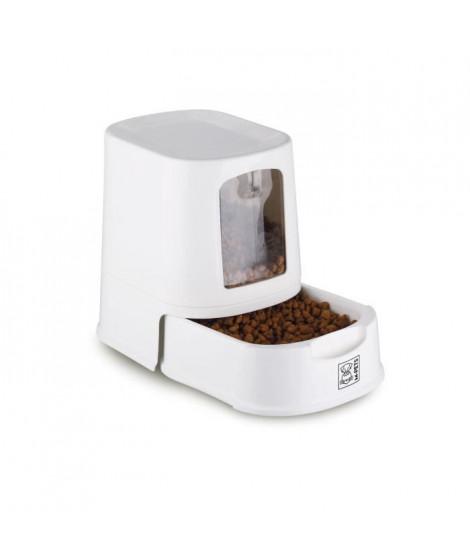 MPETS Distributeur de croquettes LENA - Pour chien - 3000ml - Blanc