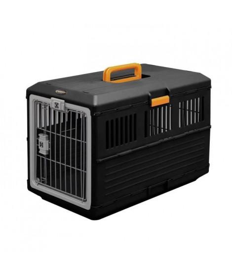IRIS OHYAMA - Boîte de transport pliable FC-670 - Max 20 kg - Noir - 68,6 x 40,3 x 47,8 cm - Pour chien et chat