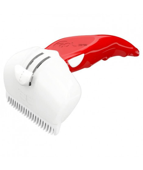 FoOLEE Brosse Easee Small - Taille M - Rouge - Pour chien