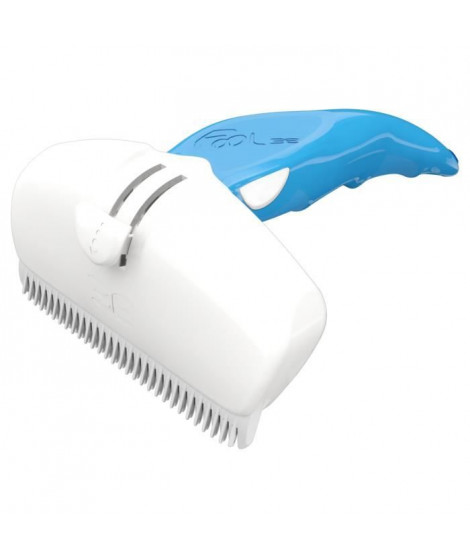 FoOLEE Brosse Easee Small - Taille L - Bleu - Pour chien