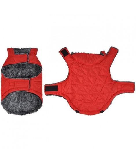 Doudoune Sam - Polyester double polaire - 30 cm - Rouge - Pour chien