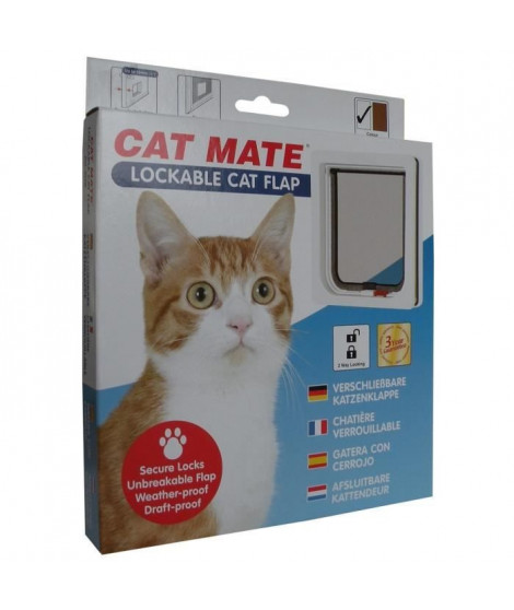 PET MATE Chatiere verrouillable 304W - Blanc - Pour chat
