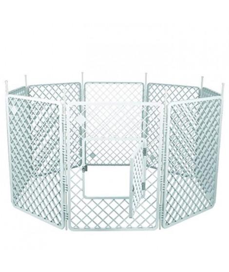 IRIS OHYAMA - Grand parc H-908 - Plastique - Blanc - 60 x 60 x 86 cm - Pour chien
