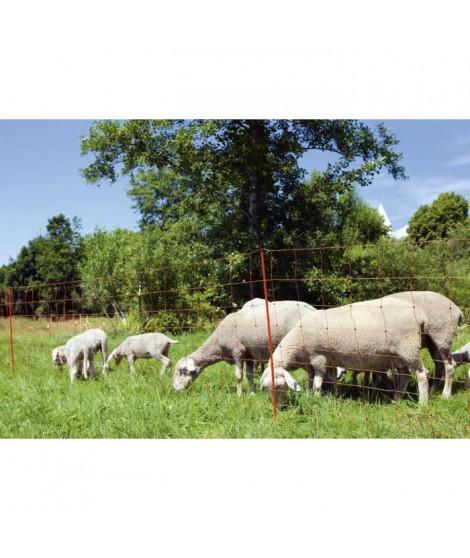 KERBL Filet mouton - Ovinet électrifiable - 14 piquets - Hauteur 90cm - Longueur 50m