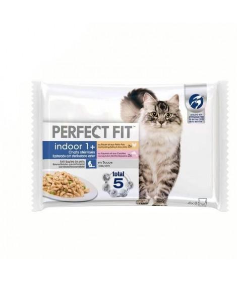 PERFECT FIT Sachets fraîcheur en sauce - 2 variétés - Pour chat stérilisé - 4 x 85 g (x13)
