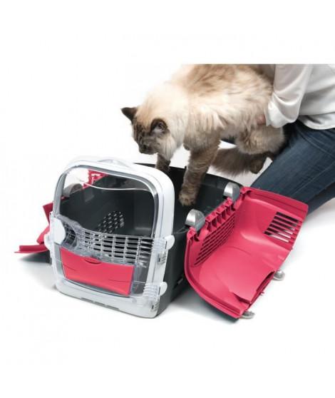 CAT IT Cage de transport Cabrio - Rouge cerise - Pour chat