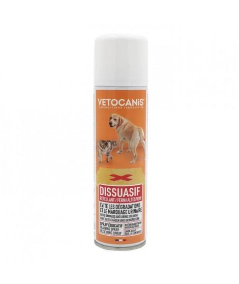 VETOCANIS Spray repoussant - Intérieur et extérieur - 250ml - Pour chien et chat