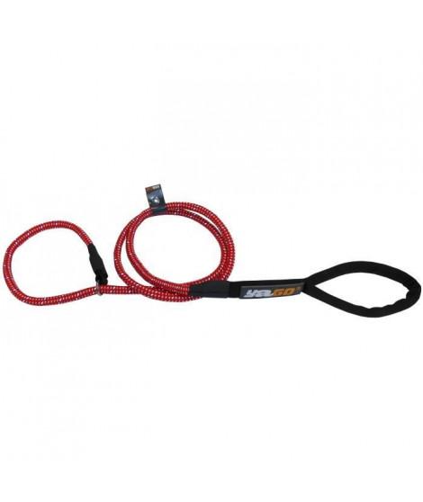 YAGO Laisse Chien, Laisse en corde rouge 2en1 pour Education du Chien, Laisse de 1,20m
