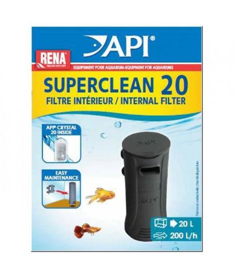 API Filtre intérieur New Superclean 20 Rena - Pour aquarium