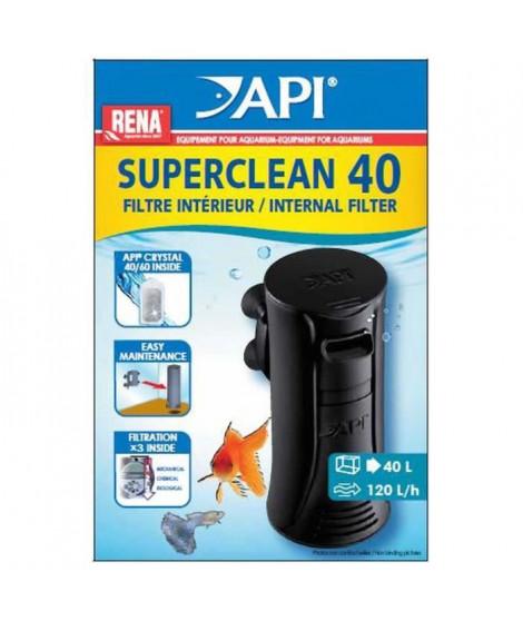 API Filtre intérieur New Superclean 40 Rena - Pour aquarium