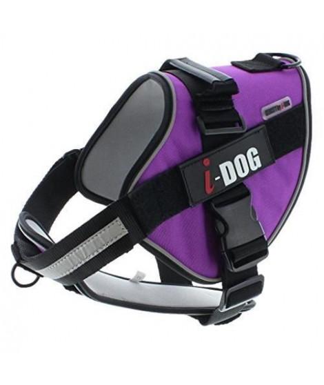 I DOG Harnais Néocity - Taille S - Violet et gris - Pour chien