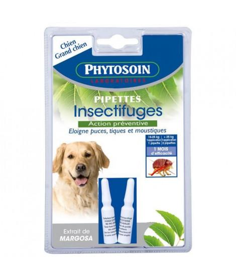 PHYTOSOIN Pipettes insectifuges - Pour chien moyen et grand chien - Lot de 2