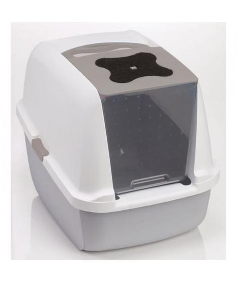 Maison de toilette grise 40x55x45 cm