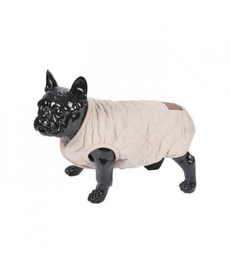 Doudoune James - Matelassée polyester double polaire - 35 cm - Ecru - Pour chien