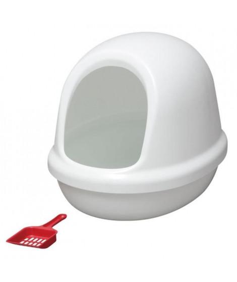 IRIS OHYAMA Maison de toilette Dome Litter Box avec pelle - PNE-500F - Plastique - 50 x 39,4 x 39 cm - Blanc - Pour chat