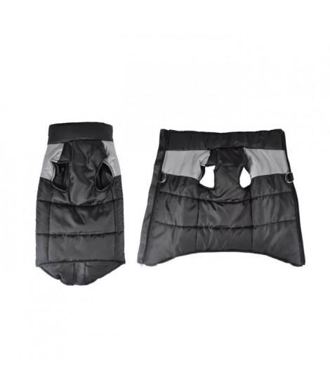 Doudoune Jack - Polyester - 35 cm - Bicolore gris et noir - Pour chien