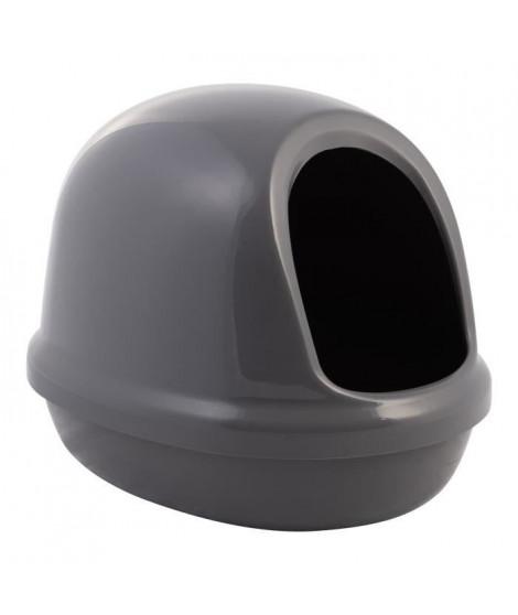 IRIS OHYAMA Maison de toilette Dome Litter Box avec pelle - PNE-500F - Plastique - 50 x 39,4 x 39 cm - Gris - Pour chat