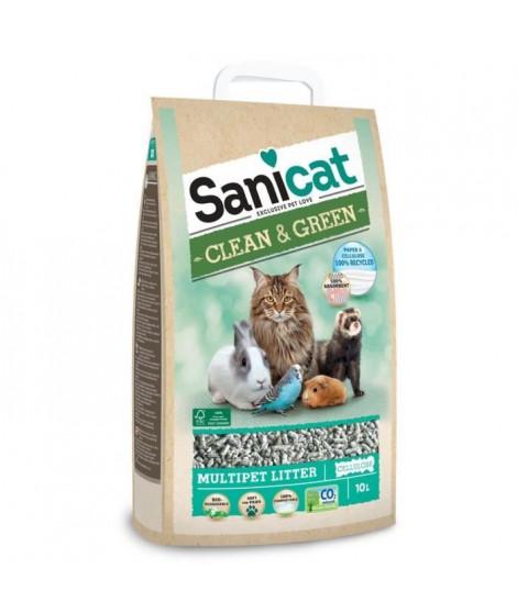 SANICAT Litiere Clean & Green Cellulose 10L - Pour chat
