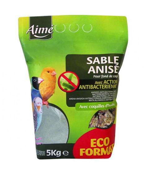 AIME Sable anisé anti-bactérien - 5 kg - Pour oiseaux