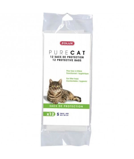12 Sacs De Protection 'pure Cat' 50x38cm