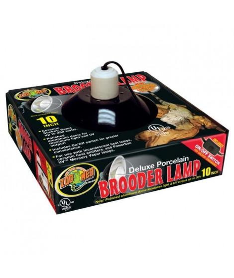 ZOOMED Support de lampe dôme pour ampoule jusqu'a 250 W - Ø 25 cm - Pour reptile, terrarium