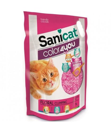 SANICAT Litiere agglomérante au parfum floral 5L - Rose - Pour chat