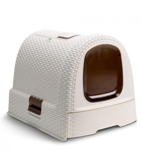 CURVER Maison de toilette - Blanc ivoire - Pour chat