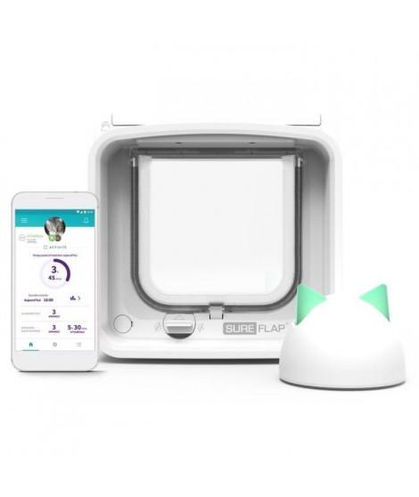 SUREFLAP Chatiere Connect a puce électronique + Hub - iDSCFWTB1 - Blanc